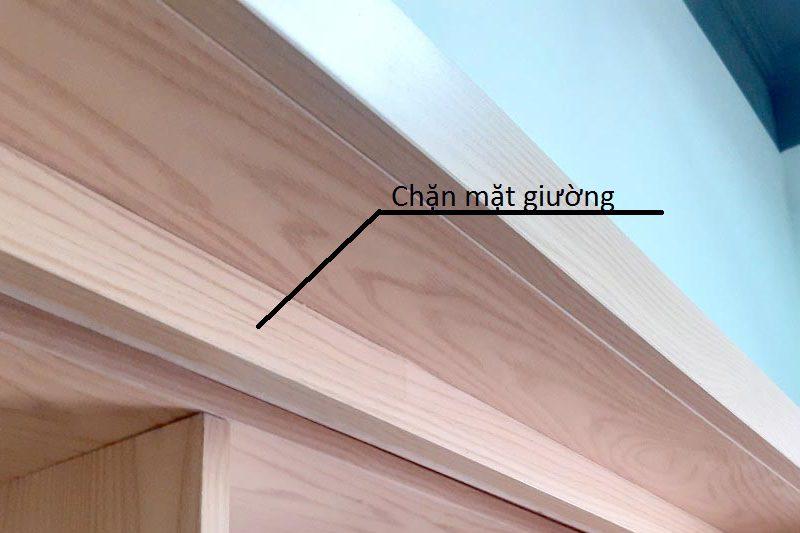 Chặn mặt giường làm bằng gỗ định vị mặt giường không cho cắm sâu vào trong